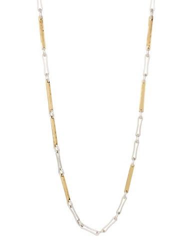 Robert Lee Morris Soho Bold Moves Two-Tone Stick Necklace-TWO TONE-One Size