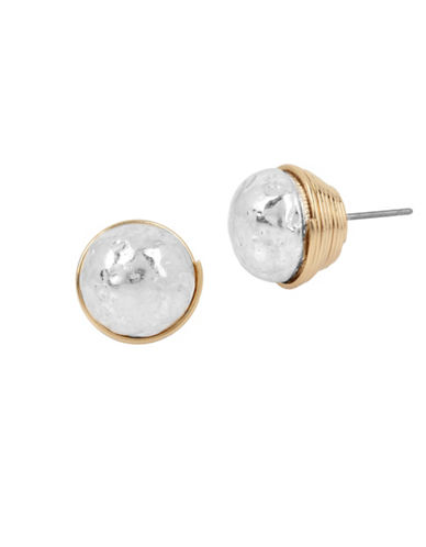 Robert Lee Morris Soho Sculptural Wire Wrapped Stud Earrings-TWO TONE-One Size
