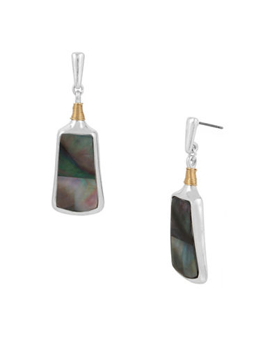 Robert Lee Morris Soho Sculptural Rectangle Drop Earrings-SILVER-One Size