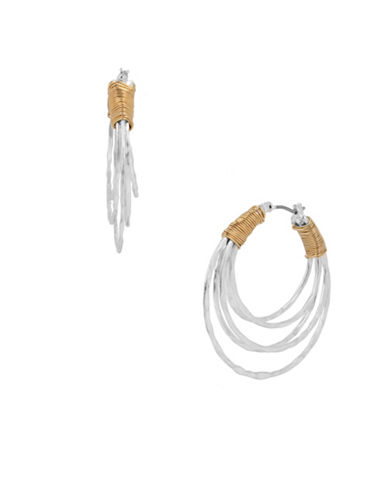 Robert Lee Morris Soho Wire Wrapped Hoop Earrings-MULTI-One Size