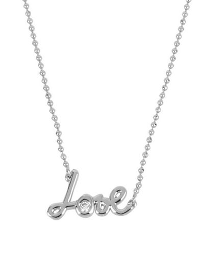 Betsey Johnson Love Pendant Necklace-GOLD-One Size
