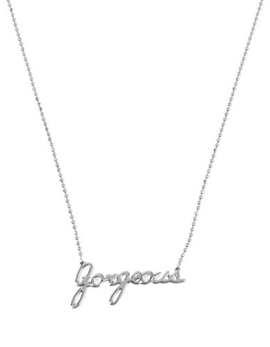 Betsey Johnson Gorgeous Pendant Necklace-SILVER-One Size
