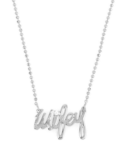 Betsey Johnson Wifey Pendant Necklace-SILVER-One Size