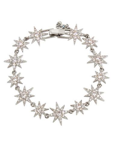 Betsey Johnson Starburst Pave Bracelet-SILVER-One Size