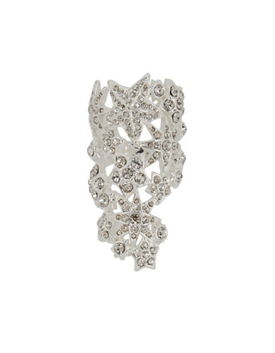 Betsey Johnson Pave Star Finger Ring-SILVER-7.5