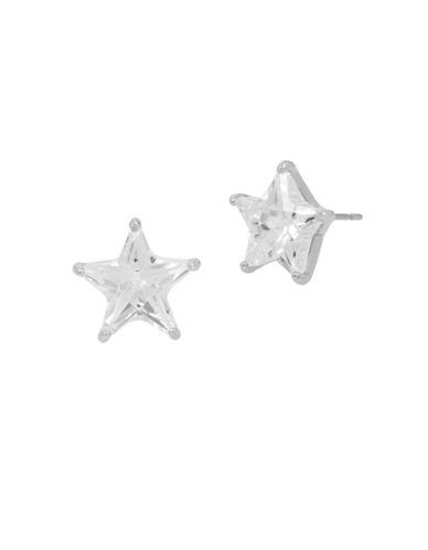 Betsey Johnson Star Stud Earrings-SILVER-One Size