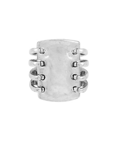 Robert Lee Morris Soho Silverplated Sculptural Rectangle Multi-Row Ring-SILVER-One Size