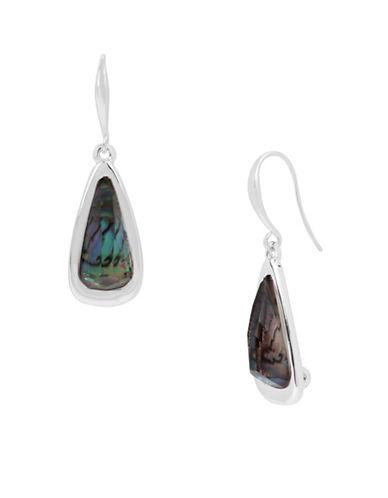 Robert Lee Morris Soho Mosaic Geometric Drop Earrings-ABALONE-One Size