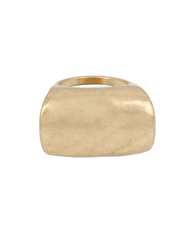 Robert Lee Morris Soho Its Ringing Goldtone Ring-GOLD-7.5