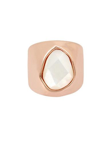 Robert Lee Morris Soho Mother-of-Pearl Rose Goldplated Sculptural Ring-ROSE GOLD-7.5