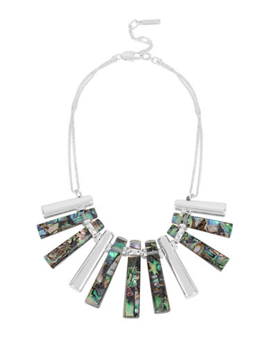 Kenneth Cole New York Hexed Semi-Precious Stick Pendant Necklace-GREEN-One Size