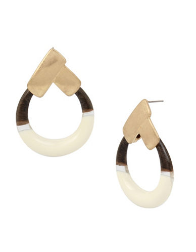 Robert Lee Morris Soho Primal Connection Goldplated Round Drop Earrings-GOLD-One Size
