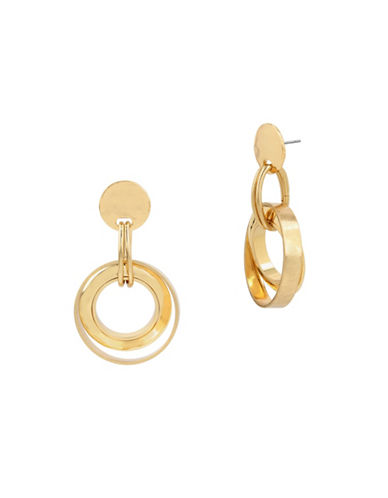 Robert Lee Morris Soho Primal Connection Multi-Circle Drop Earrings-GOLD-One Size