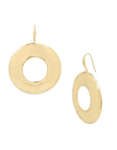 Robert Lee Morris Soho Primal Connection Hammered Hoop Earrings-GOLD-One Size