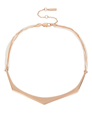 Kenneth Cole New York Geometric Bar Collar Necklace-ROSE GOLD-One Size