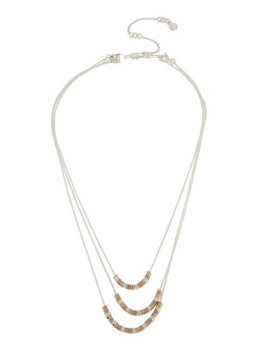 Kenneth Cole New York Delicates Geometric Bead Multi-Row Necklace Set-TRI TONE-One Size