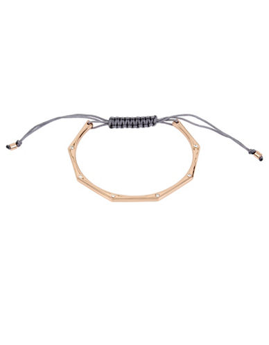 Kenneth Cole New York Delicates Geometric Adjustable Friendship Bracelet-ROSE GOLD-One Size