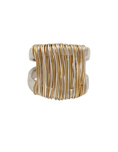 Robert Lee Morris Soho Wired Warrior Two-Tone Wrapped Sculptured Ring-TWO TONE-7.5