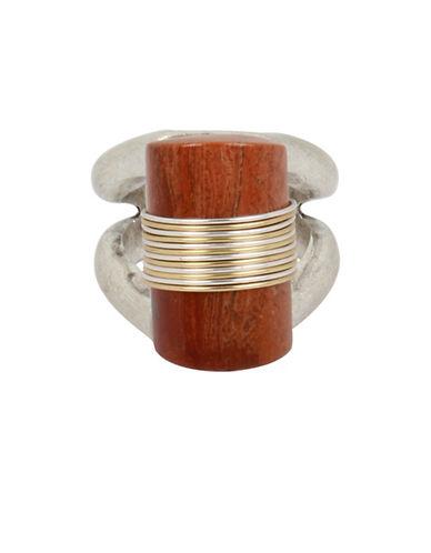 Robert Lee Morris Soho Semi-Precious Red Jasper Stone Sculptural Ring-RED-7.5