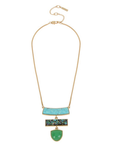 Kenneth Cole New York Totem Frontal Necklace-MULTI-One Size
