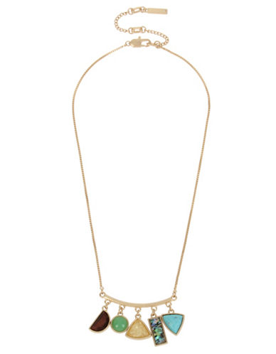 Kenneth Cole New York Semiprecious Shaky Frontal Necklace-MULTI-One Size