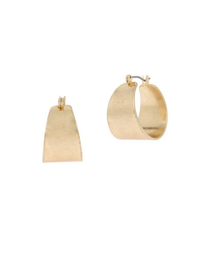 Kenneth Cole New York Scoop Gold Hoop Earrings-GOLD-One Size