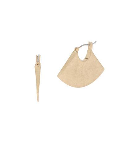 Kenneth Cole New York Fan Hoop Earrings-GOLD-One Size