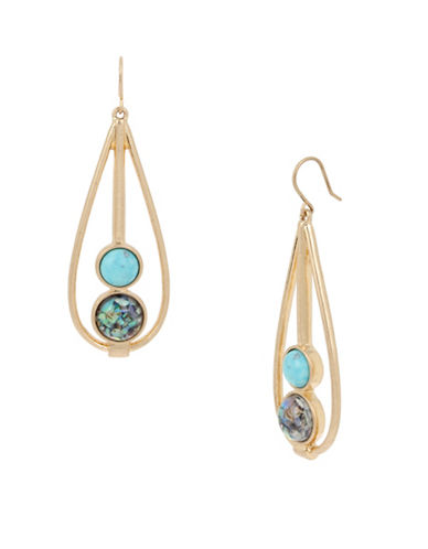 Kenneth Cole New York Semiprecious Geometric Drop Earrings-TURQUOISE-One Size