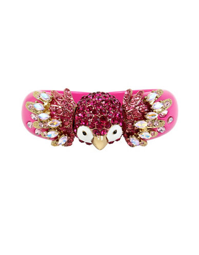 Betsey Johnson Tropical Pave Parrot Bangle-PINK-One Size