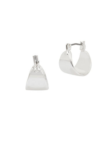 Kenneth Cole New York Wide Huggie Earrings-SILVER-One Size