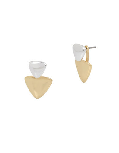 Kenneth Cole New York Two-Tone Front Back Earrings-TWO-TONE-One Size