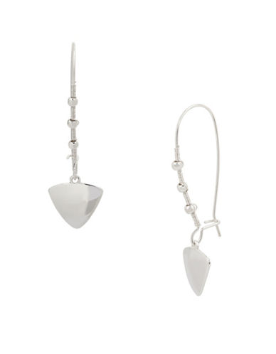 Kenneth Cole New York Triangle Drop Earrings-SILVER-One Size