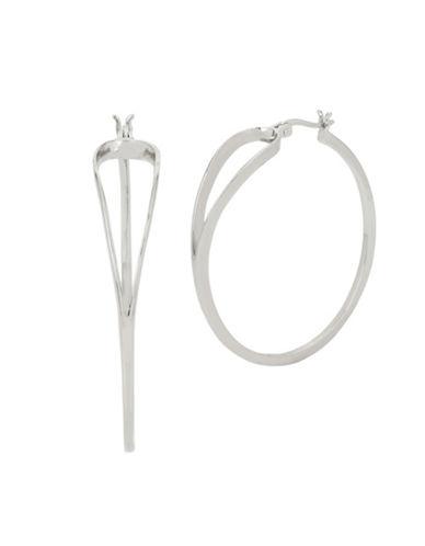 Kenneth Cole New York Open Hoop Earrings-SILVER-One Size