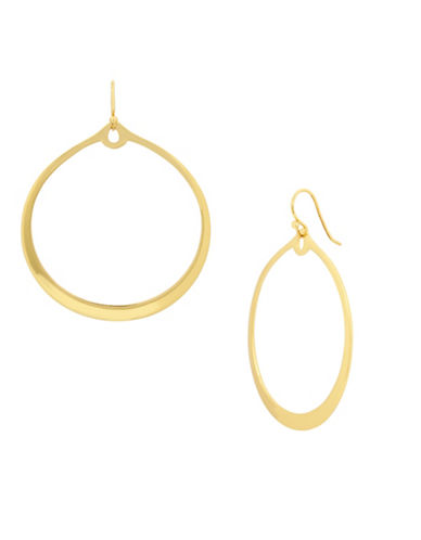 Kenneth Cole New York Gypsy Hoop Earrings-GOLD-One Size
