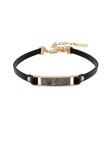 Kenneth Cole New York Mother-of-Pearl Choker Necklace-BLACK-One Size