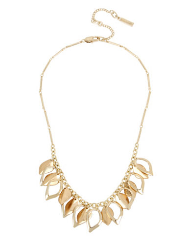 Kenneth Cole New York Shakey Frontal Necklace-GOLD-One Size