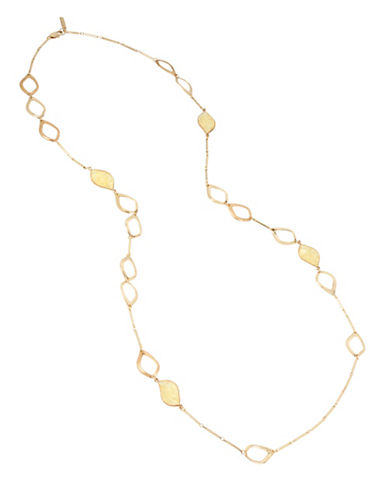 Kenneth Cole New York Citrine Station Necklace-GOLD-One Size