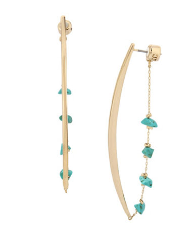 Kenneth Cole New York Chain Linear Earrings-BLUE-One Size