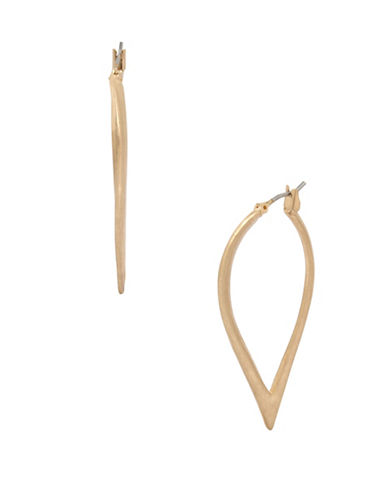 Kenneth Cole New York Sculptural Hoop Earrings-GOLD-One Size