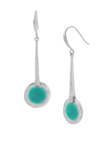 Robert Lee Morris Soho Colour Wheel Linear Earrings-SILVER-One Size