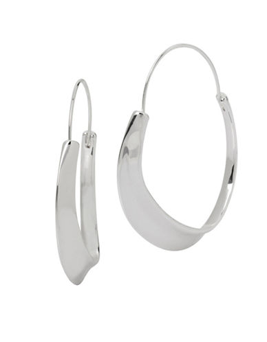 Robert Lee Morris Soho Colour Wheel Sculptural Hoop Earrings-SILVER-One Size