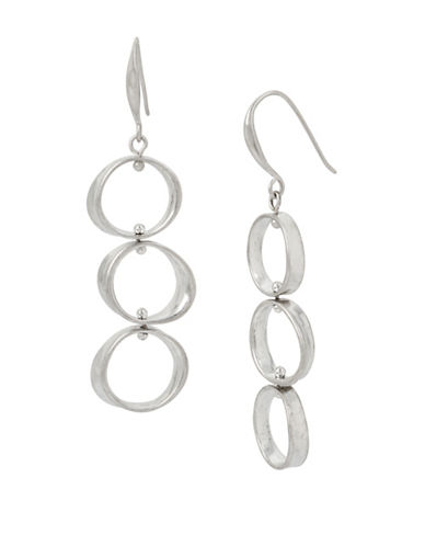 Robert Lee Morris Soho Colour Wheel Circular Drop Earrings-SILVER-One Size