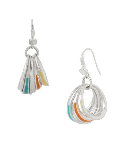 Robert Lee Morris Soho Colour Wheel Drop Earrings-SILVER-One Size