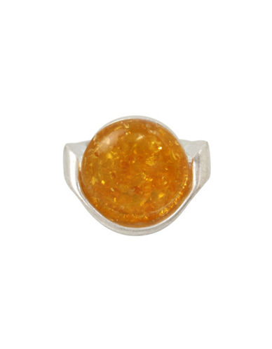 Robert Lee Morris Soho Colour Wheel Amber Sculptural Ring-SILVER-7.5