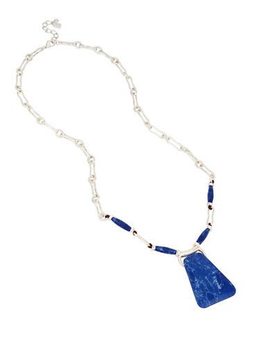 Robert Lee Morris Soho Something Blue Lapis Link Necklace-LAPIS-One Size