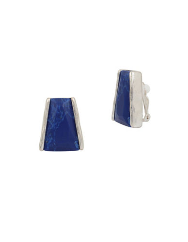 Robert Lee Morris Soho Something Blue Lapis Clip Earrings-LAPIS-One Size