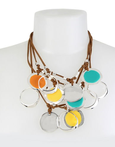 Robert Lee Morris Soho Colour Wheel Multi-Row Necklace-MULTI-One Size