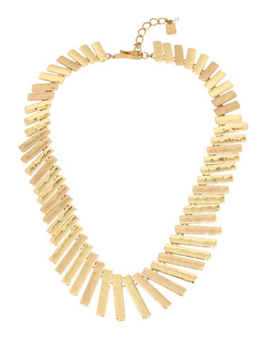 Robert Lee Morris Soho Hammered Stick Necklace-MULTI-One Size