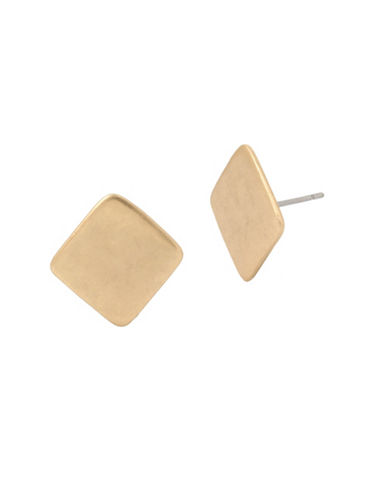 Robert Lee Morris Soho Plated Square Studs-GOLD-One Size