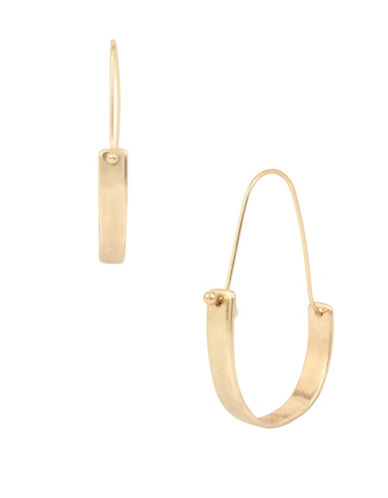 Robert Lee Morris Soho Plated Sculptural Drop Earrings-GOLD-One Size